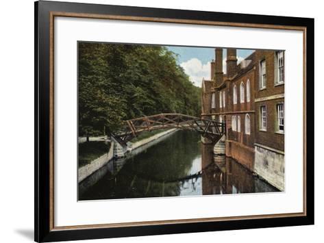 Queens' College, the Bridge--Framed Art Print