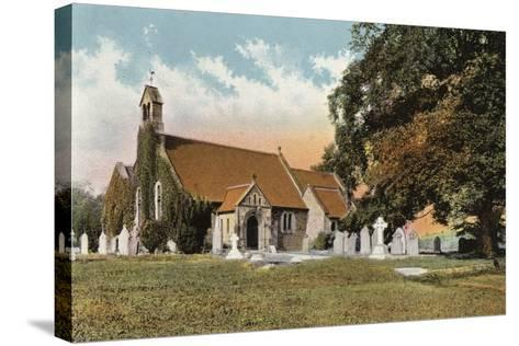 Rowsley Church--Stretched Canvas Print