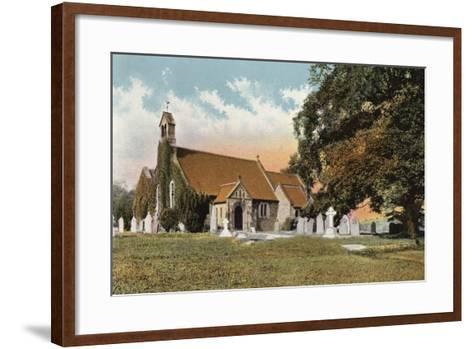 Rowsley Church--Framed Art Print