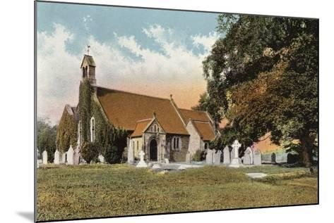 Rowsley Church--Mounted Photographic Print
