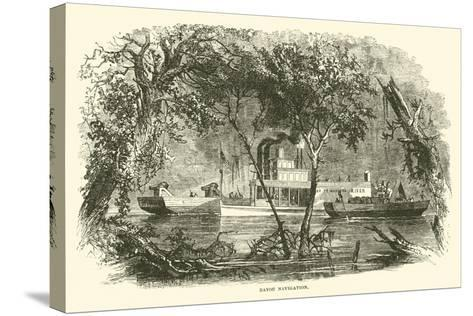 Bayou Navigation, March 1863--Stretched Canvas Print