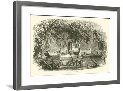 Bayou Navigation, March 1863--Framed Art Print