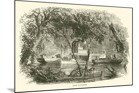Bayou Navigation, March 1863--Mounted Giclee Print