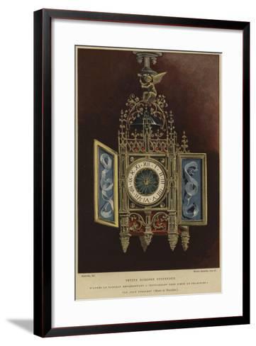 Small Hanging Clock--Framed Art Print