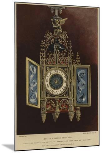 Small Hanging Clock--Mounted Giclee Print
