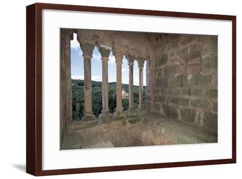 Colonnade from Commarque Castle--Framed Art Print