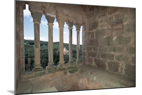 Colonnade from Commarque Castle--Mounted Giclee Print