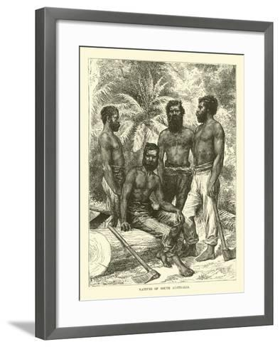 Natives of South Australia--Framed Art Print