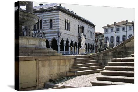 Piazza Liberta, in Centre of Loggia Del Lionello--Stretched Canvas Print