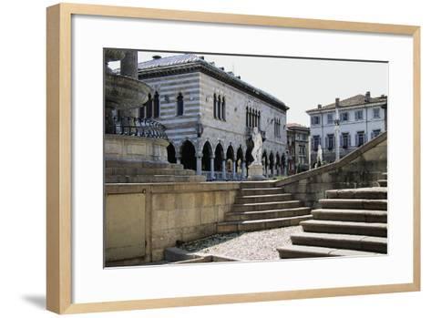 Piazza Liberta, in Centre of Loggia Del Lionello--Framed Art Print