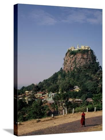 The Rock of Mount Popa, Myanmar--Stretched Canvas Print