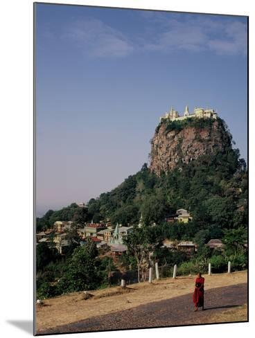 The Rock of Mount Popa, Myanmar--Mounted Photographic Print