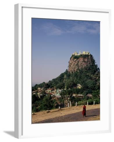 The Rock of Mount Popa, Myanmar--Framed Art Print