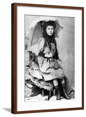 Marie Laurençin as a Child, C.1903--Framed Art Print