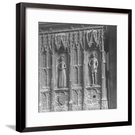 Figures on a Tomb at Westminster Abbey, London-Frederick Henry Evans-Framed Art Print