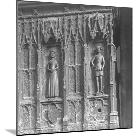 Figures on a Tomb at Westminster Abbey, London-Frederick Henry Evans-Mounted Photographic Print