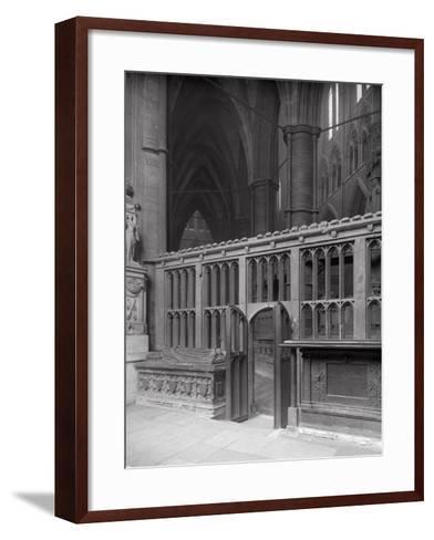 Interior of Westminster Abbey, London-Frederick Henry Evans-Framed Art Print