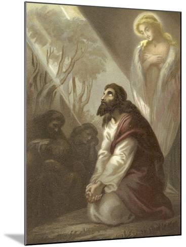 Christ in the Garden of Gethsemane--Mounted Giclee Print