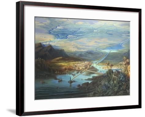Egypt, View of the Suez Canal-Albert Rieger-Framed Art Print