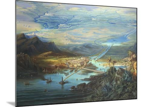 Egypt, View of the Suez Canal-Albert Rieger-Mounted Giclee Print