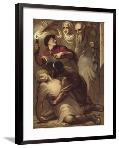 The Fall of Eutychus from the Window--Framed Art Print