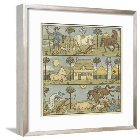 Once There Lived a Little Man-Walter Crane-Framed Art Print