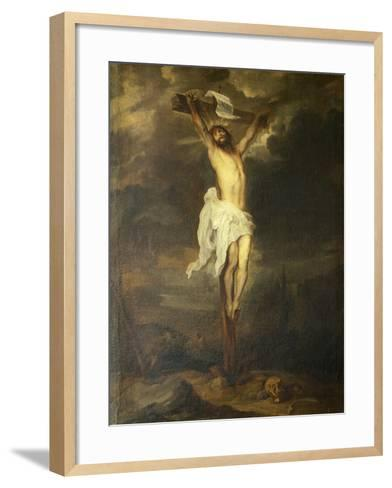 Crucifix by Anthony Van Dyck--Framed Art Print