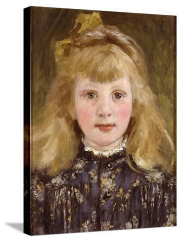 Portrait of a Young Girl-James Charles-Stretched Canvas Print