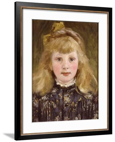 Portrait of a Young Girl-James Charles-Framed Art Print