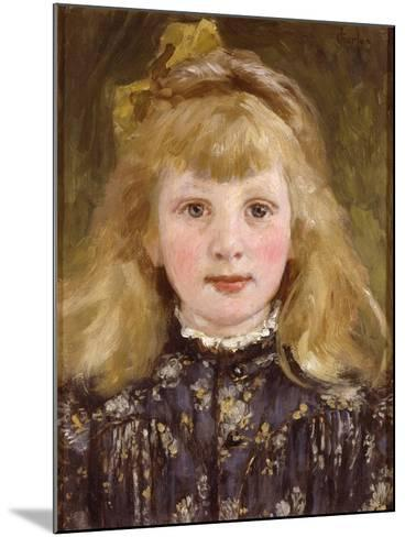 Portrait of a Young Girl-James Charles-Mounted Giclee Print