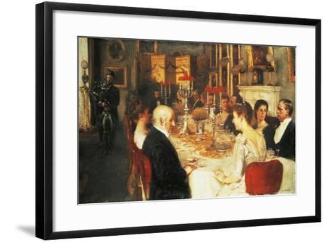 Dinner at Haddo House-Alfred Edward Emslie-Framed Art Print