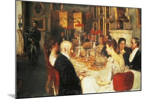 Dinner at Haddo House-Alfred Edward Emslie-Mounted Giclee Print