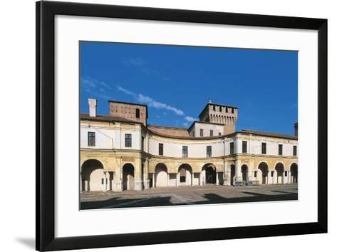 View of Piazza Castello, Palazzo Ducale, Mantua--Framed Art Print