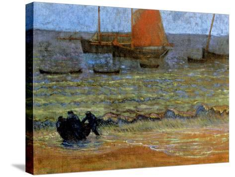 Sea Shore, Brittany, C.1890-92-Emile Jourdan-Stretched Canvas Print