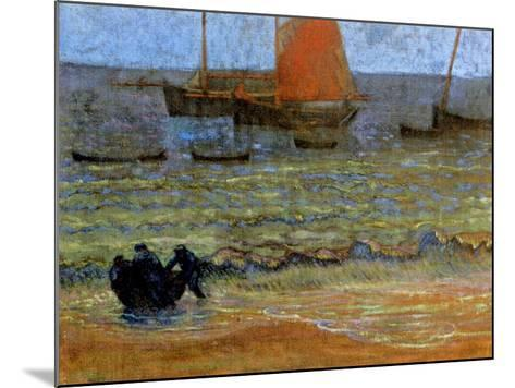 Sea Shore, Brittany, C.1890-92-Emile Jourdan-Mounted Giclee Print