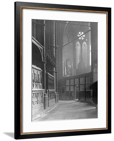 Interior of Westminster Abbey-Frederick Henry Evans-Framed Art Print