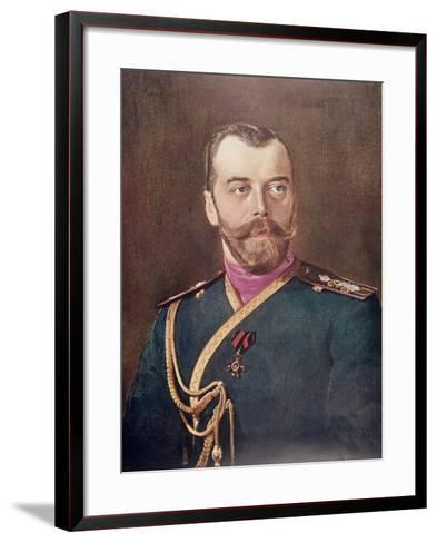 Portrait of Tsar Nicholas II--Framed Art Print