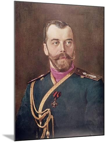 Portrait of Tsar Nicholas II--Mounted Giclee Print