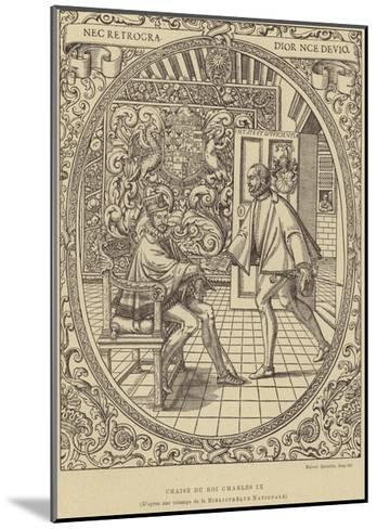 Chair of King Charles IX of France, 16th Century--Mounted Giclee Print