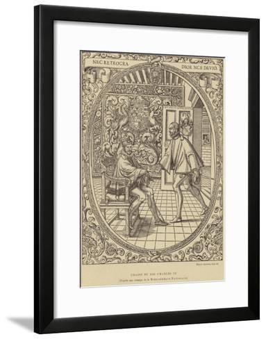 Chair of King Charles IX of France, 16th Century--Framed Art Print