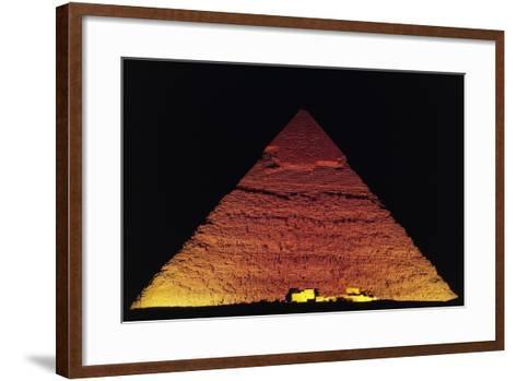The Pyramid of Khafre at Night, Giza Necropolis--Framed Art Print