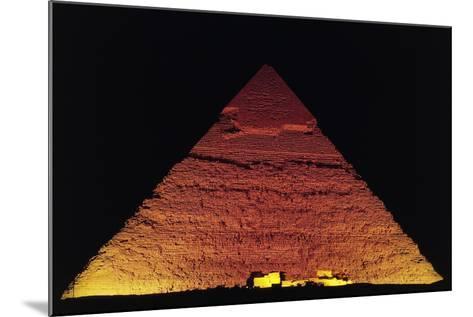 The Pyramid of Khafre at Night, Giza Necropolis--Mounted Photographic Print