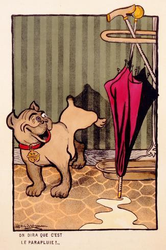 On Dira Que C'Est Le Parapluie!, C.1910--Stretched Canvas Print