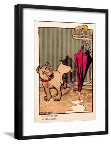 On Dira Que C'Est Le Parapluie!, C.1910--Framed Art Print