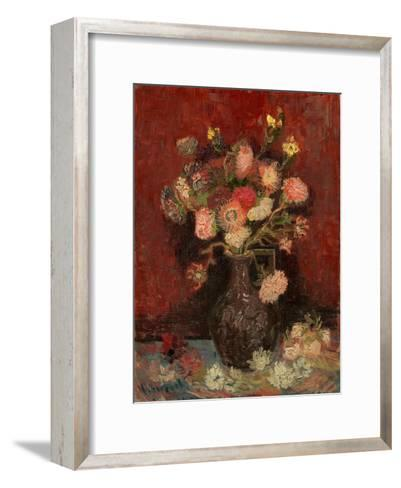 Vase with Chinese Asters and Gladioli-Vincent van Gogh-Framed Art Print