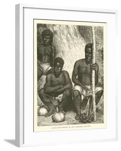 Native Fruit-Sellers of New Caledonia, Papuans--Framed Art Print