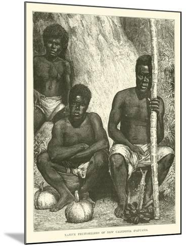 Native Fruit-Sellers of New Caledonia, Papuans--Mounted Giclee Print