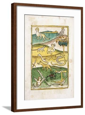 Monsters and Snakes in a Landscape, 1478--Framed Art Print