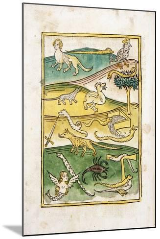 Monsters and Snakes in a Landscape, 1478--Mounted Giclee Print