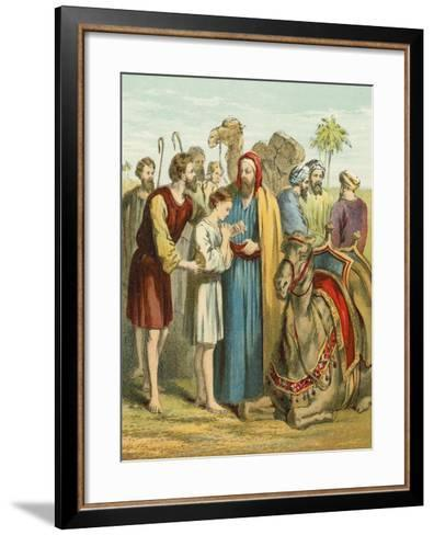 Joseph Is Sold as a Slave by His Brothers--Framed Art Print